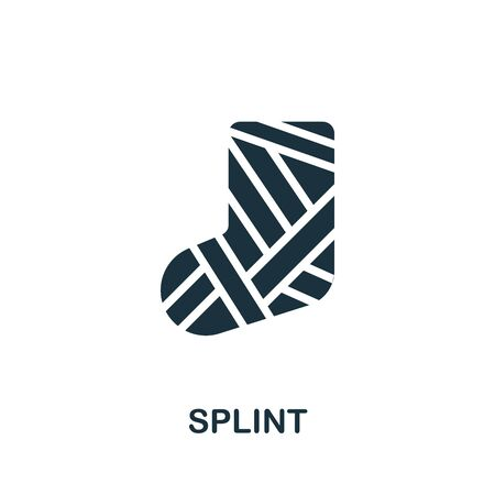 Splint icon. Simple illustration from trauma rehabilitation collection. Monochrome Splint icon for web design, templates and infographics.