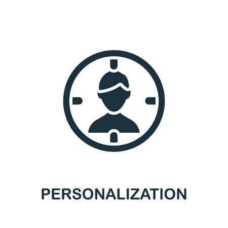 Personalization icon. Simple illustration from content marketing collection. Monochrome Personalization icon for web design, templates and infographics.