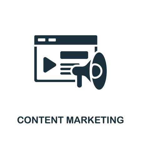 Content Marketing icon. Simple line element content marketing symbol for templates, web design and infographics.