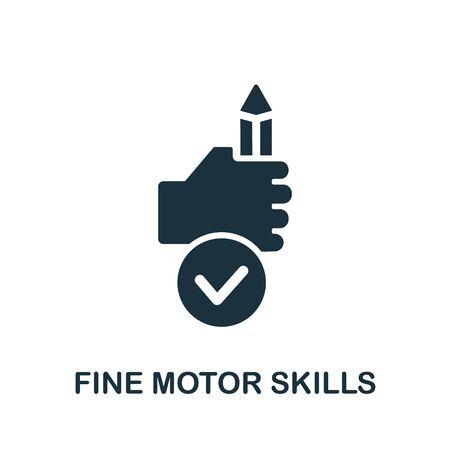 Fine Motor Skills icon. Simple illustration from child development collection. Monochrome Fine Motor Skills icon for web design, templates and infographics. Vector Illustratie