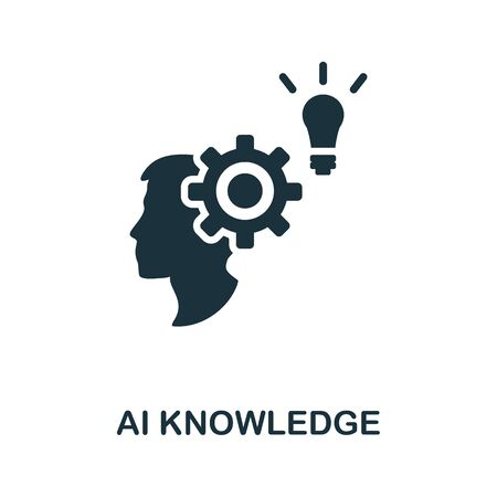Ai Knowledge thin line icon. Creative simple design from artificial intelligence icons collection. Outline ai knowledge icon for web design and mobile apps usage.