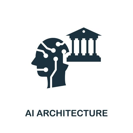 Ai Architecture thin line icon. Creative simple design from artificial intelligence icons collection. Outline ai architecture icon for web design and mobile apps usage.