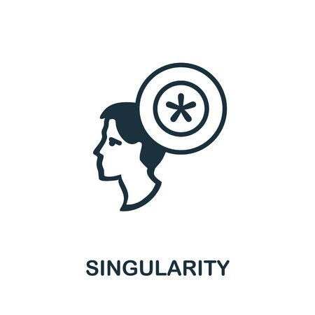 Singularity thin line icon. Creative simple design from artificial intelligence icons collection. Outline singularity icon for web design and mobile apps usage.