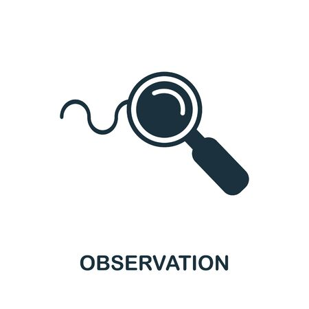 Observation thin line icon. Creative simple design from artificial intelligence icons collection. Outline observation icon for web design and mobile apps usage.