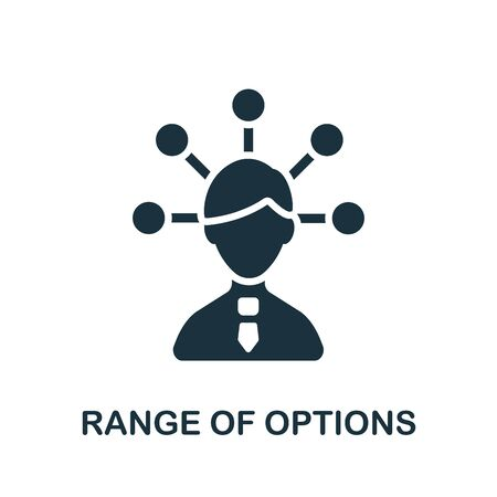 Range Of Options icon. Simple illustration from productive work collection. Monochrome Range Of Options icon for web design, templates and infographics.