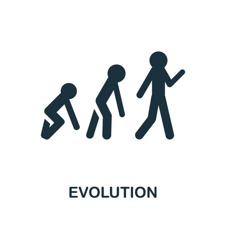 Evolution thin line icon. Creative simple design from artificial intelligence icons collection. Outline evolution icon for web design and mobile apps usage.
