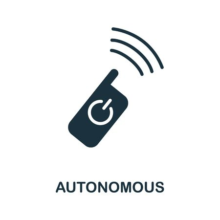 Autonomous thin line icon. Creative simple design from artificial intelligence icons collection. Outline autonomous icon for web design and mobile apps usage.