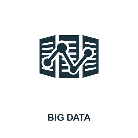 Big Data thin line icon. Creative simple design from artificial intelligence icons collection. Outline big data icon for web design and mobile apps usage.