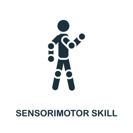 Sensorimotor Skill thin line icon. Creative simple design from artificial intelligence icons collection. Outline sensorimotor skill icon for web design and mobile apps usage. Ilustracja