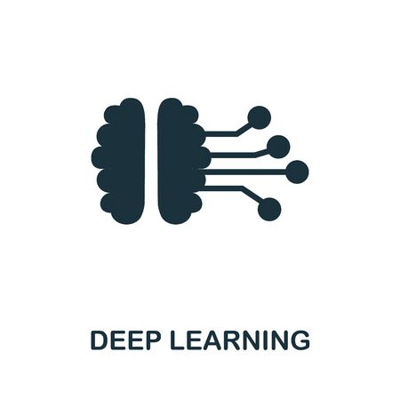 Deep Learning thin line icon. Creative simple design from artificial intelligence icons collection. Outline deep learning icon for web design and mobile apps usage.