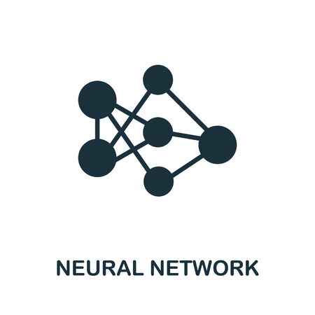 Neural Network thin line icon. Creative simple design from artificial intelligence icons collection. Outline neural network icon for web design and mobile apps usage.