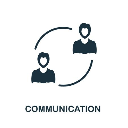 Communication thin line icon. Creative simple design from artificial intelligence icons collection. Outline communication icon for web design and mobile apps usage.