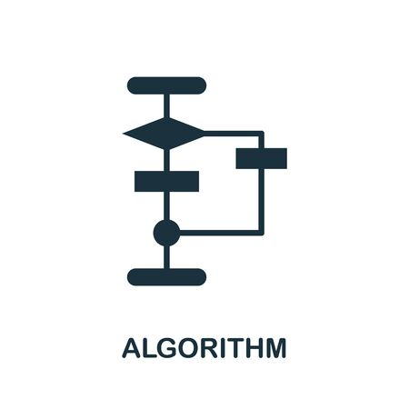 Algorithm thin line icon. Creative simple design from artificial intelligence icons collection. Outline algorithm icon for web design and mobile apps usage. 向量圖像
