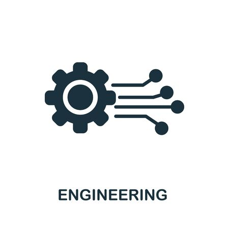 Engineering thin line icon. Creative simple design from artificial intelligence icons collection. Outline engineering icon for web design and mobile apps usage.