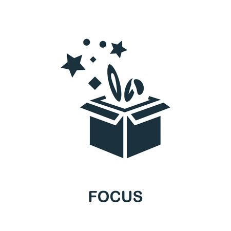 Focus icon. Simple illustration from amusement park collection. Monochrome Focus icon for web design, templates and infographics.