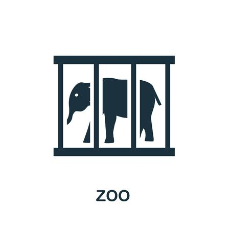 Zoo icon. Simple illustration from amusement park collection. Monochrome Zoo icon for web design, templates and infographics. 向量圖像