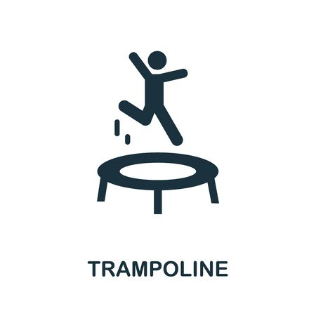 Trampoline icon. Simple illustration from amusement park collection. Monochrome Trampoline icon for web design, templates and infographics.