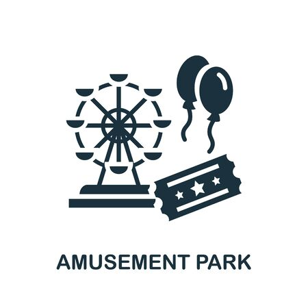 Amusement Park icon. Simple line element amusement park symbol for templates, web design and infographics.