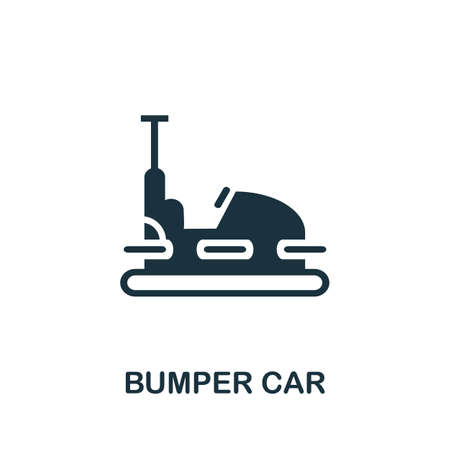 Bumper Car icon. Simple illustration from amusement park collection. Monochrome Bumper Car icon for web design, templates and infographics.