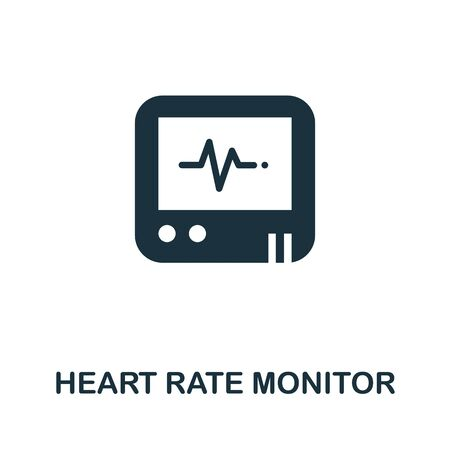 Heart Rate Monitor icon. Simple illustration from digital health collection. Monochrome Heart Rate Monitor icon for web design, templates and infographics.