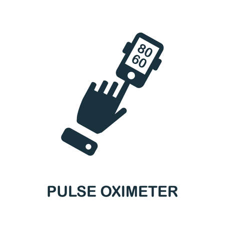 Pulse Oximeter icon. Simple illustration from digital health collection. Monochrome Pulse Oximeter icon for web design, templates and infographics.