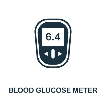 Blood Glucose Meter icon. Simple illustration from digital health collection. Monochrome Blood Glucose Meter icon for web design, templates and infographics.