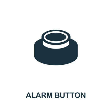 Alarm Button icon. Simple illustration from digital health collection. Monochrome Alarm Button icon for web design, templates and infographics.
