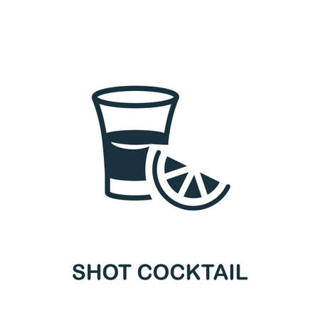 Shot Cocktail icon. Simple illustration from drinks collection. Monochrome Shot Cocktail icon for web design, templates and infographics.