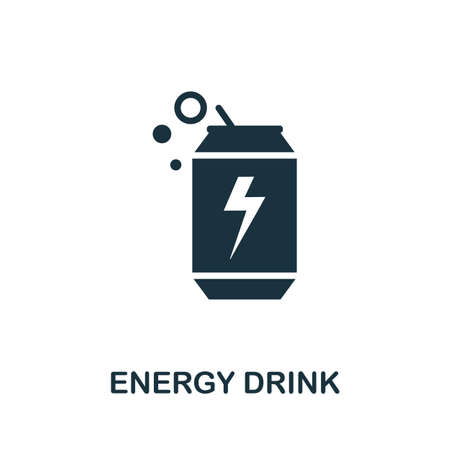 Energy Drink icon. Simple illustration from drinks collection. Monochrome Energy Drink icon for web design, templates and infographics. Ilustrace