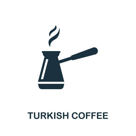 Turkish Coffee icon. Simple illustration from drinks collection. Monochrome Turkish Coffee icon for web design, templates and infographics.