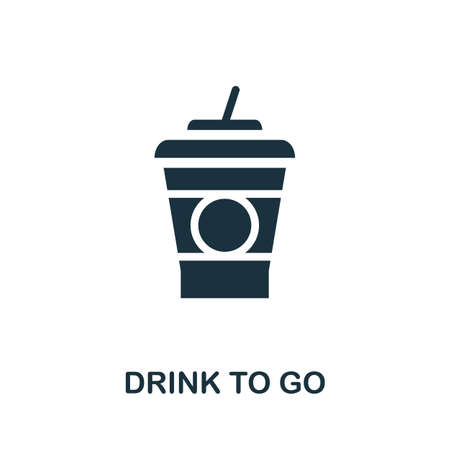 Drink To Go icon. Simple illustration from drinks collection. Monochrome Drink To Go icon for web design, templates and infographics.