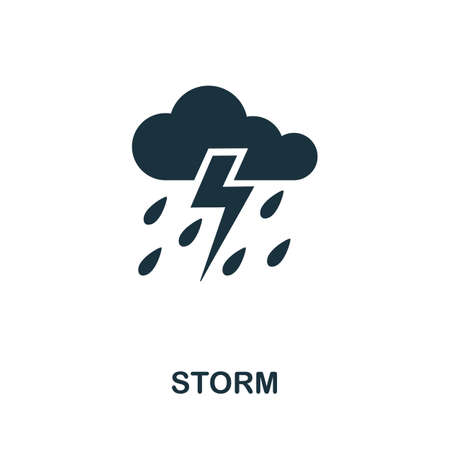 Storm icon. Simple illustration from natural disaster collection. Monochrome Storm icon for web design, templates and infographics. Illusztráció