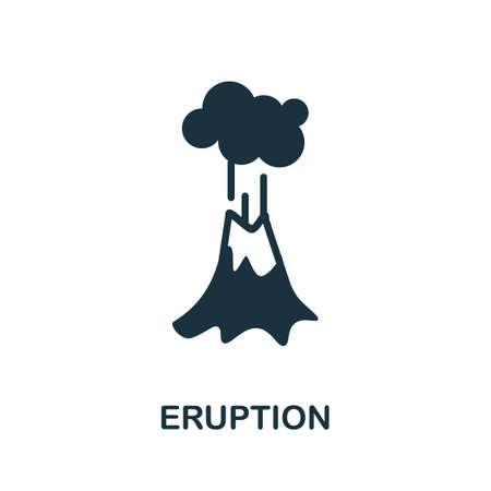 Eruption icon. Simple line element eruption symbol for templates, web design and infographics.