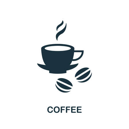 Coffee icon. Simple illustration from drinks collection. Monochrome Coffee icon for web design, templates and infographics.