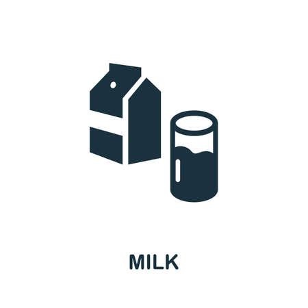 Milk icon. Simple illustration from drinks collection. Monochrome Milk icon for web design, templates and infographics. Illusztráció