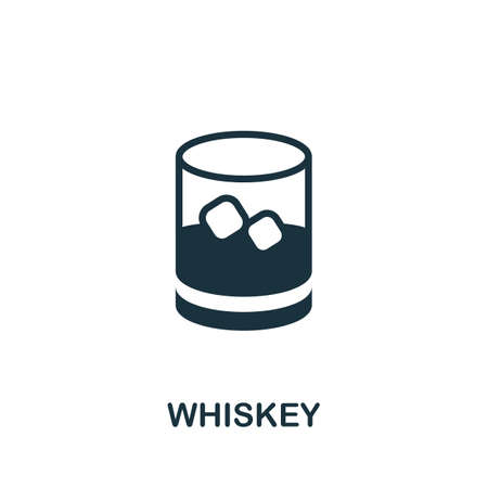 Whiskey icon. Simple illustration from drinks collection. Monochrome Whiskey icon for web design, templates and infographics.