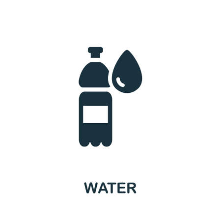 Water icon. Simple illustration from drinks collection. Monochrome Water icon for web design, templates and infographics.