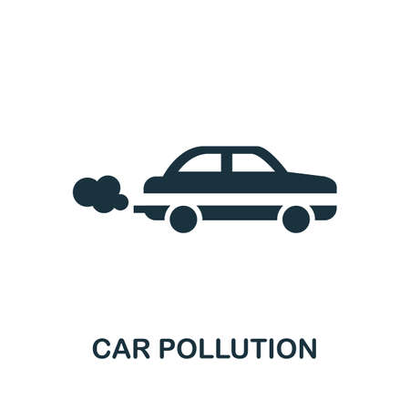 Car Pollution icon. Simple element from global warming collection. Creative Car Pollution icon for web design, templates, infographics and more 矢量图像