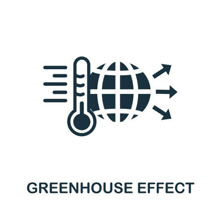 Greenhouse Effect icon. Simple element from global warming collection. Creative Greenhouse Effect icon for web design, templates, infographics and more