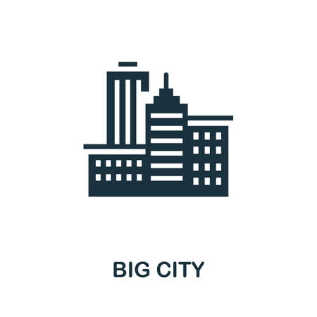 Big City icon. Simple element from global warming collection. Creative Big City icon for web design, templates, infographics and more