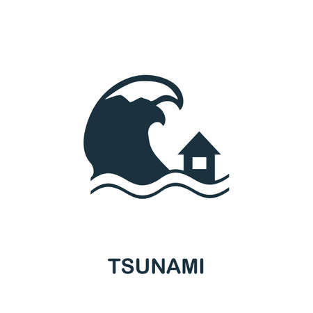 Tsunami icon. Simple element from global warming collection. Creative Tsunami icon for web design, templates, infographics and more