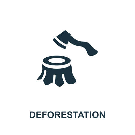 Deforestation icon. Simple element from global warming collection. Creative Deforestation icon for web design, templates, infographics and more