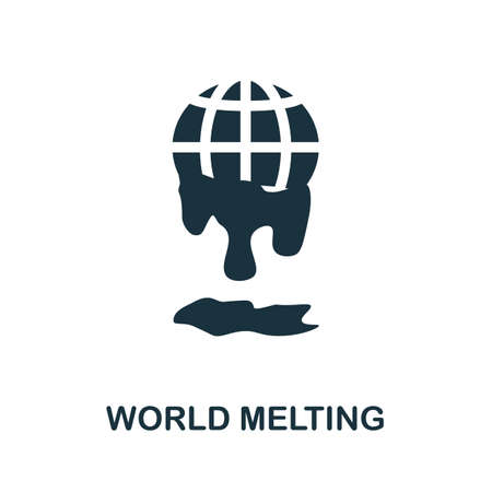 World Melting icon. Simple element from global warming collection. Creative World Melting icon for web design, templates, infographics and more 矢量图像