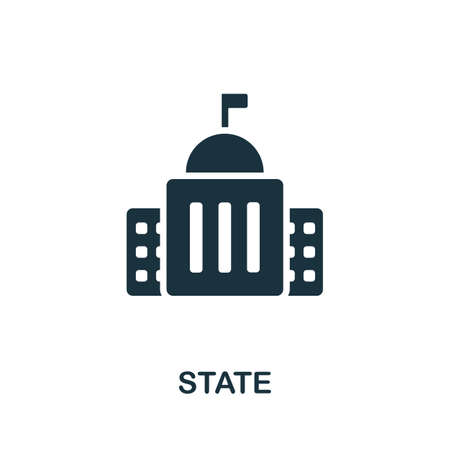 State icon. Simple element from Crisis collection. Creative State icon for web design, templates, infographics and more