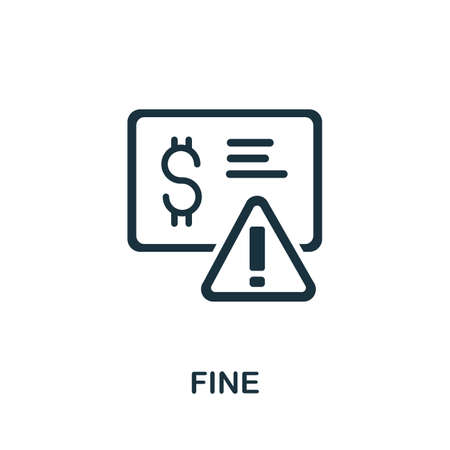 Fine icon. Simple element from Crisis collection. Creative Fine icon for web design, templates, infographics and more