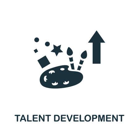 Talent Development icon. Simple illustration from business management collection. Monochrome Talent Development icon for web design, templates and infographics. Ilustração