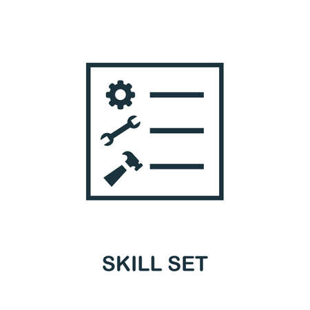 Skill Set icon. Simple illustration from business management collection. Monochrome Skill Set icon for web design, templates and infographics. Ilustração
