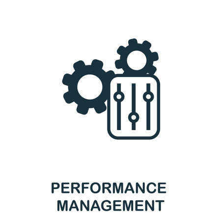 Performance Management icon. Simple illustration from business management collection. Monochrome Performance Management icon for web design, templates and infographics.