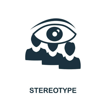 Stereotype icon. Simple illustration from business management collection. Monochrome Stereotype icon for web design, templates and infographics.