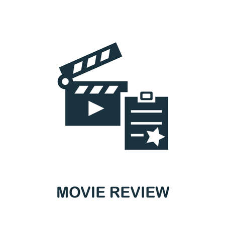 Movie Review icon. Simple illustration from cinema collection. Monochrome Movie Review icon for web design, templates and infographics.